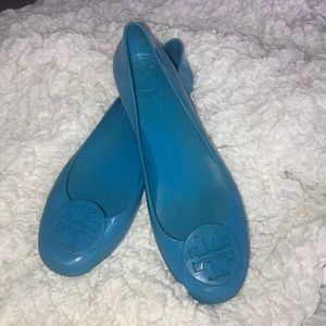 Tory Burch Jellie Reva's size 8 color turquoise